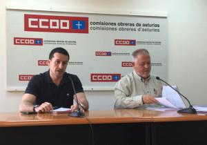 Javier Fernández Lanero y Antonio Pino durante la rueda de prensa posterior.