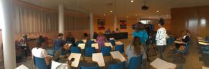Aspecto de la rueda de prensa, que tuvo lugar en la sala Mirador de la FIDMA