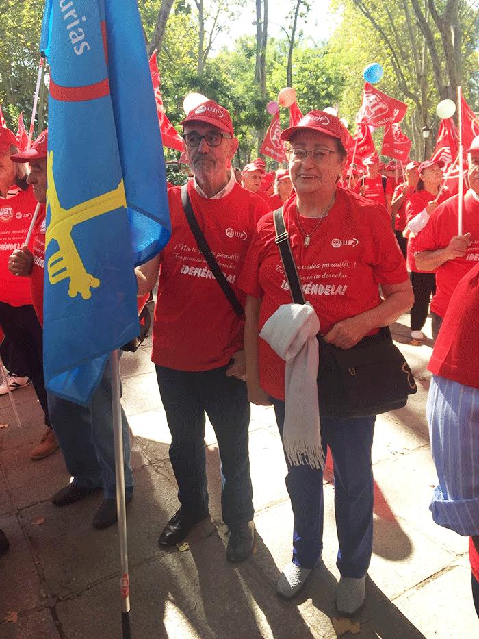 Por UJP Asturias asistieron cerca de doscientos compañeros y compañeras a la convocatoria.