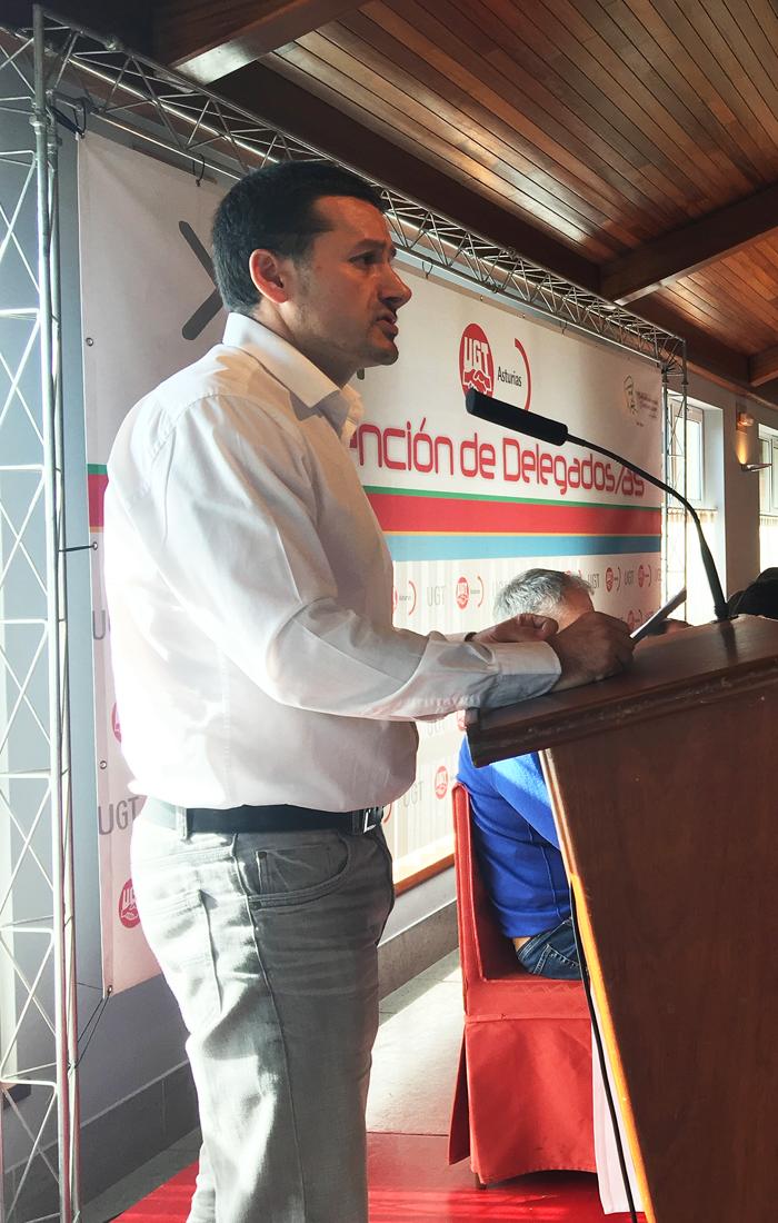 Javier Fernández Lanero durante su intervención.