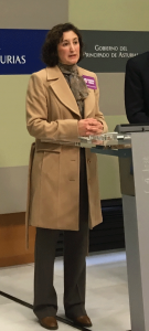 Carmen Escandón puso de relieve el compromiso de UGT para combatir la brecha salarial y habló de la campaña que hasta el 31 de diciembre está desarrollando el sindicato.