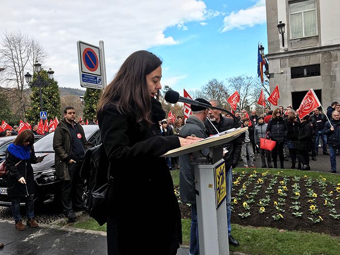 La periodista Susana Machargo leyó el manifiesto.