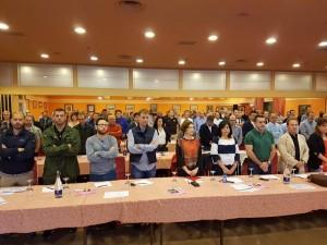La asambleaa guardó un minuto de silencio por el crimen de violencia de género acaecido en Las Gabias (Granada).